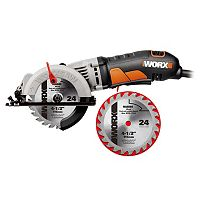 Deals on WORX 4-1/2 Compact Circular Saw with Bonus Blade