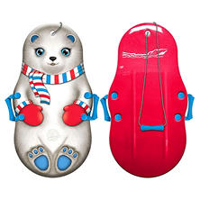"Snow Bear Sno-Storm 36"" Kiddy Sled with Tow Rope and Handles"