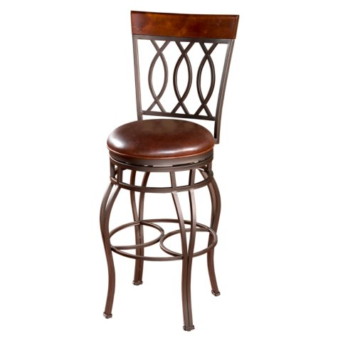 "Garrison 30"" Barstool with Merlot Color Seat"