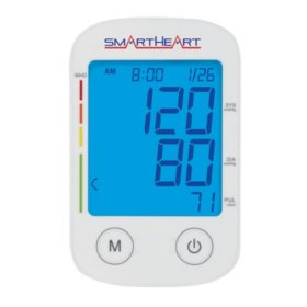 SmartHeart Blood Pressure Arm Monitor, Regular and Large Adult Cuff
