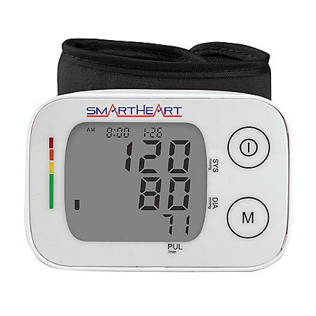 SmartHeart Blood Pressure Monitor with Adult Wrist Cuff