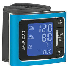 Veridian Metallic Blue Blood Pressure Wrist Monitor
