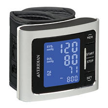 Veridian Metallic Silver Blood Pressure Wrist Monitor