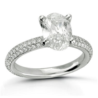 3.84 ct. t.w. Premier Diamond Collection Oval & Pave Diamond Ring (F, SI2)