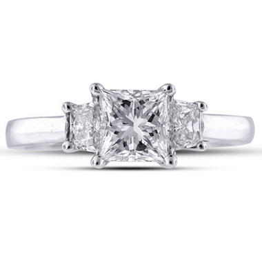 1.3 ct. t.w. Princess/Trapezoid Ring (H-I, SI1-SI2)