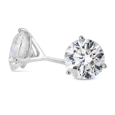 3.43 ct. t.w. Premier Diamond Collection 3-Prong Martini Round Diamond Earrings in 18k White Gold (I-J, SI1)
