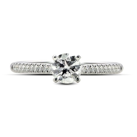 0.71 ct. t.w. Premier Diamond Collection Round & Pave' Diamond Ring (G, SI1)