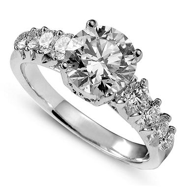 1.83 ct. t.w. Premier Diamond Collection Round Diamond Ring + 8 Accent Diamonds in 14k White Gold (I, I1)