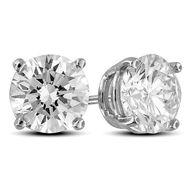 2.43 ct. t.w. Premier Diamond Collection 4-Prong Round Diamond Earrings in 14k White Gold (H-I, SI1-I1)