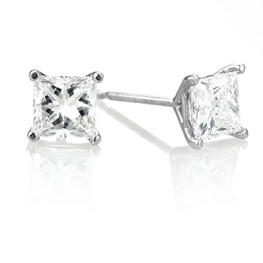 1.07 ct. t.w. Premier Diamond Collection Martini-Set Princess Diamond Earrings in 14k White Gold (F-H, VVS2-VS1)