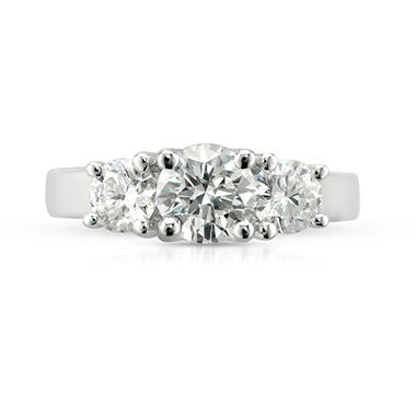 1.88 ct. t.w. Premier Diamond Collection Round 3-stone Ring in 14k White Gold (H, SI2)