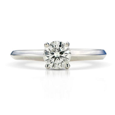 1.00 ct. Premier Diamond Collection Round Diamond Solitaire Ring in 14k White Gold (G, I1)