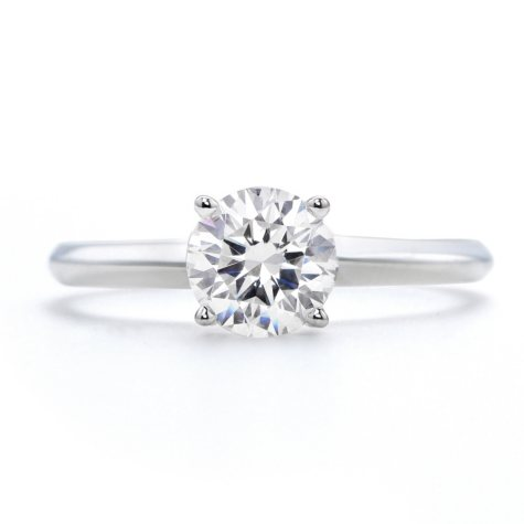 1.21 ct. Premier Diamond Collection Round Diamond Solitaire Ring in 14k White Gold (I, SI1)
