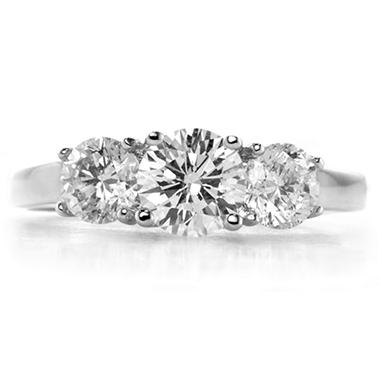 2.17 ct. t.w. Premier Diamond Collection Round 3-stone Ring in 14k White Gold (G, I1)
