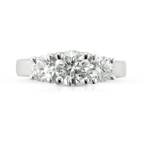 1.81 ct. t.w. Premier Diamond Collection Round 3-stone Ring in 14k White Gold (I, SI1)