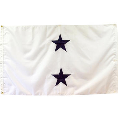 Navy 2 Star Admiral (Non-Seagoing) 3' x 5' Nylon Outdoor Flag