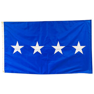 Air Force 4 Star General 3' x 5' Nylon Outdoor Flag