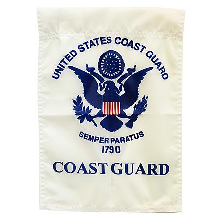 """Coast Guard 12"""" x 18"""" Garden Flag"""