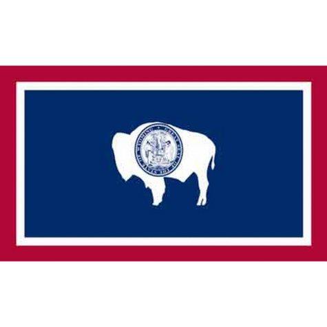 Wyoming 3' x 5' Nylon Flag