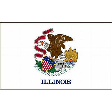 Illinois 5' x 8' Nylon Flag