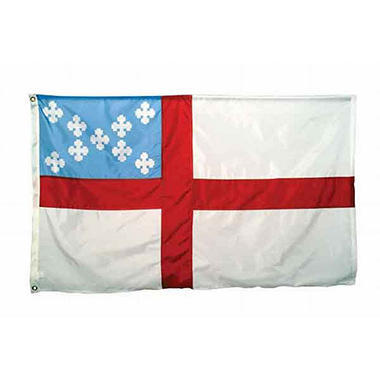 Episcopal 4'X6' Nylon Flag