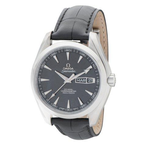Omega Seamaster Aqua Terra Leather Strap Watch