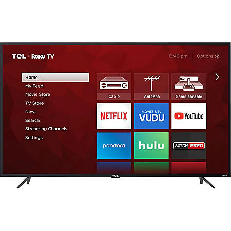 "TCL 65"" Class 4K UHD Roku Smart TV"