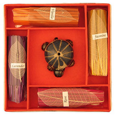 Ceramic Turtle Incense Kit with Gift Box