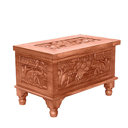 Royal Elephant Wood Storage Chest / Coffee Table