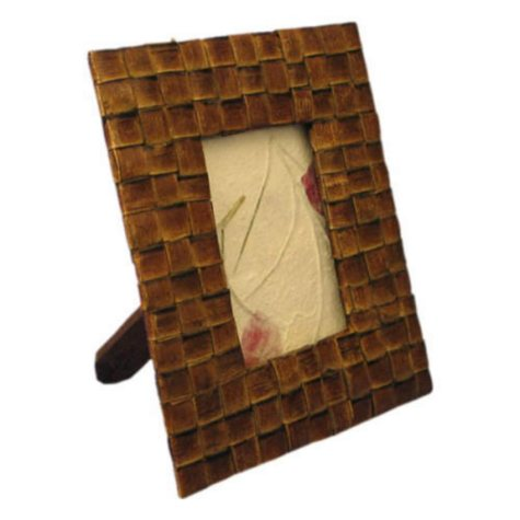 Exotic Palm Leaf Picture Frame With Lattice Design