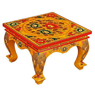 Tibetan Hand-Painted Elephant Coffee Table