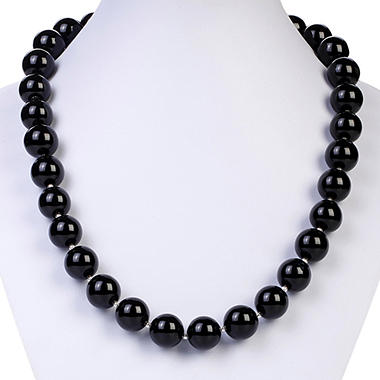 Sterling Silver Black Agate Necklace