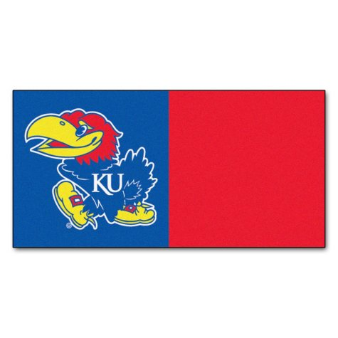 NCAA - University of Kansas Team Carpet Tiles