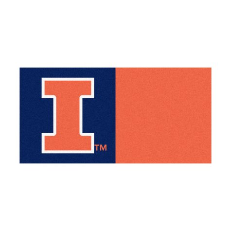 NCAA - University of Illinois Team Carpet Tiles