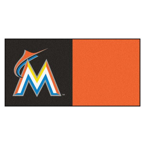MLB - Miami Marlins Team Carpet Tiles