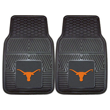 NCAA - University of Texas 2-pc Vinyl Car Mat Set