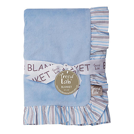 Trend Lab Ruffle-Trimmed Receiving Blanket, Logan