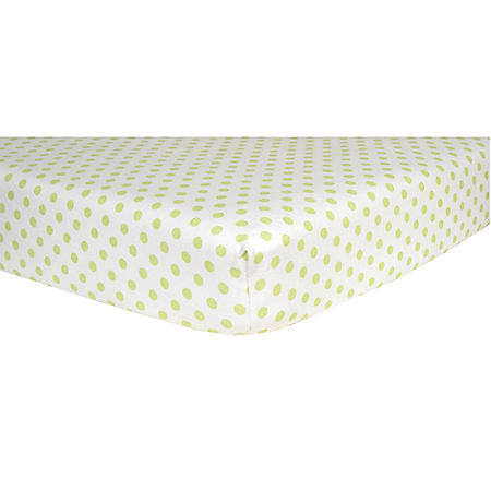 Trend Lab Flannel Fitted Crib Sheet, Sage Dot