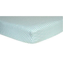Trend Lab Flannel Fitted Crib Sheet, Mint and White Chevron