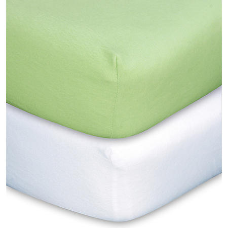 Trend Lab Crib Sheet - Sage & White