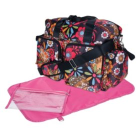Trend Lab Deluxe Duffle Diaper Bag (Choose Your Color)