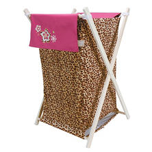 Trend Lab Hamper Set - Berry Leopard