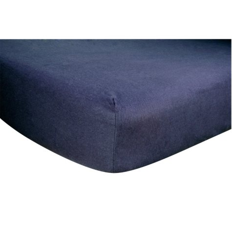 Trend Lab Flannel Fitted Crib Sheet, Navy