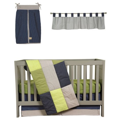 Trend Lab Crib Bedding 5 pc. - Perfectly Preppy