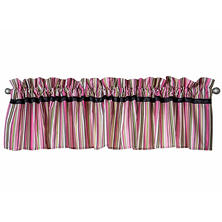 Waverly Tres Chic Window Valance, Stripe