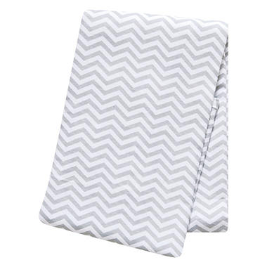 Trend Lab Flannel Swaddle Blanket, Gray and White Chevron