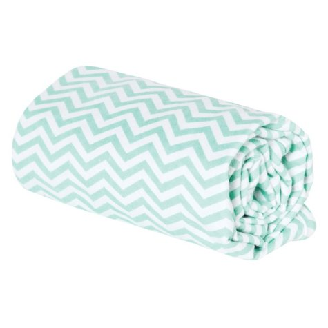 Trend Lab Flannel Swaddle Blanket, Mint and White Chevron