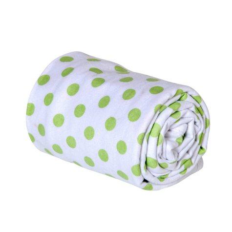 Trend Lab Flannel Swaddle Blanket, Sage Dot