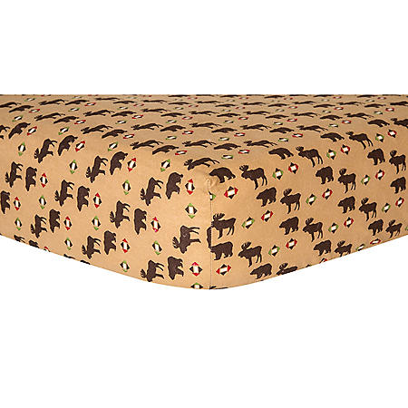Trend Lab Flannel Fitted Crib Sheet, Northwoods