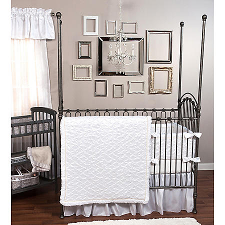 Trend Lab 3-Piece Crib Bedding Set, Marshmallow